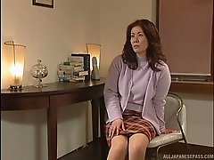Sexy mature Asian milf sucks cock pending a rough missionary fuck