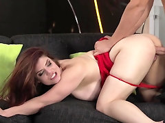 Tight mom enjoys a very massive cock in her ass