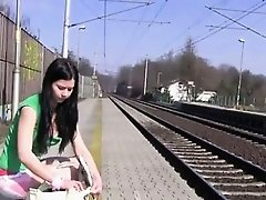 Masturbating at the train station