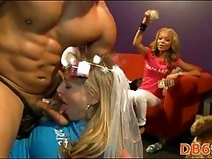 Strip dancer cums on girl face