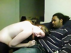 Pale skinned girl invites black guy