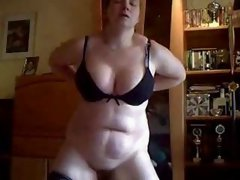Home made video. Wife masturbate standing in front of me